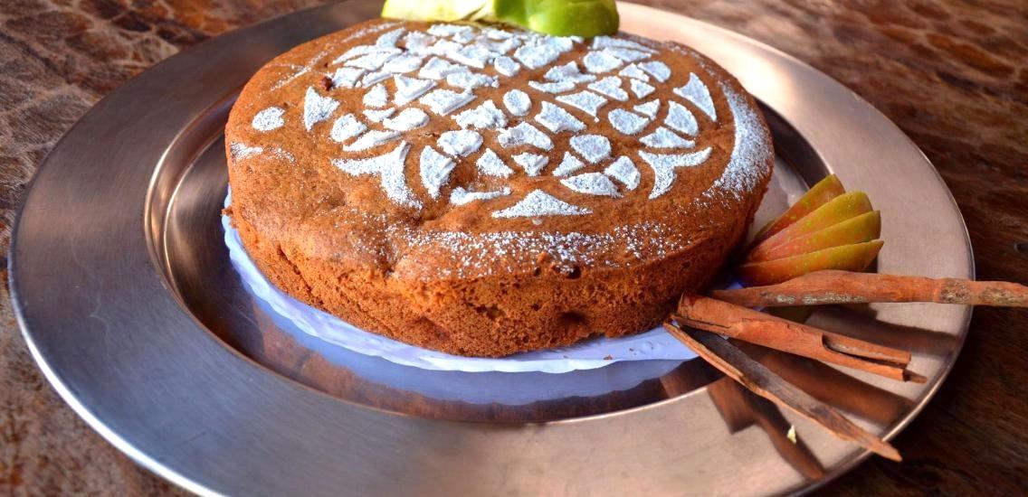 bolo de maca hotel fazenda mazzaropi - Bolo de Maçã